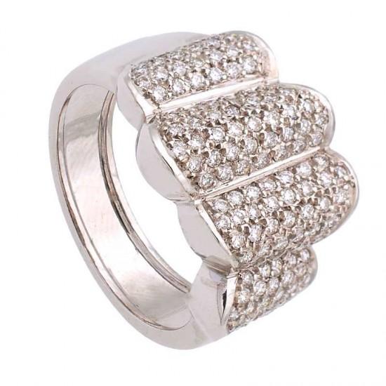 Sortija con pavé de diamantes - 1