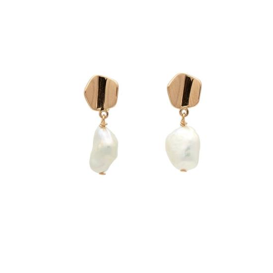 Pendientes de oro rosa y perlas cultivadas - 0372