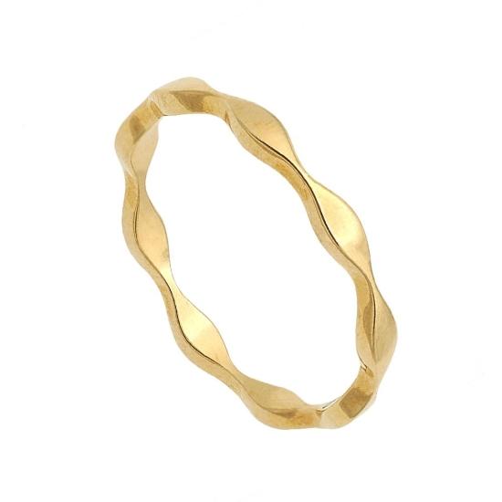 Sortija ondas en oro amarillo - 0784