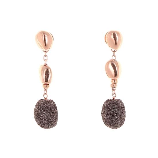 Pendientes Pesavento rosa polvo de sueños marrón - WPLVO623 - 1