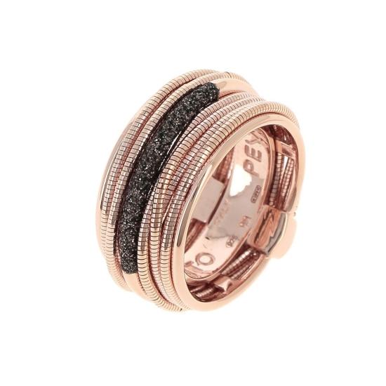 Sortija Pesavento dna rosa polvo marrón - WDNAA106 - 1
