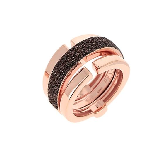 Sortija Pesavento polvo de sueño rosa marrón - WPLVA1581 - 1