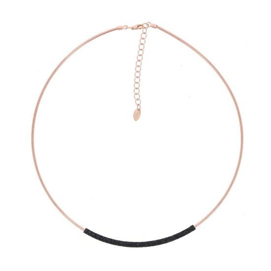 Collar Pesavento dna rosa polvo negro - WDNAG179 - 1