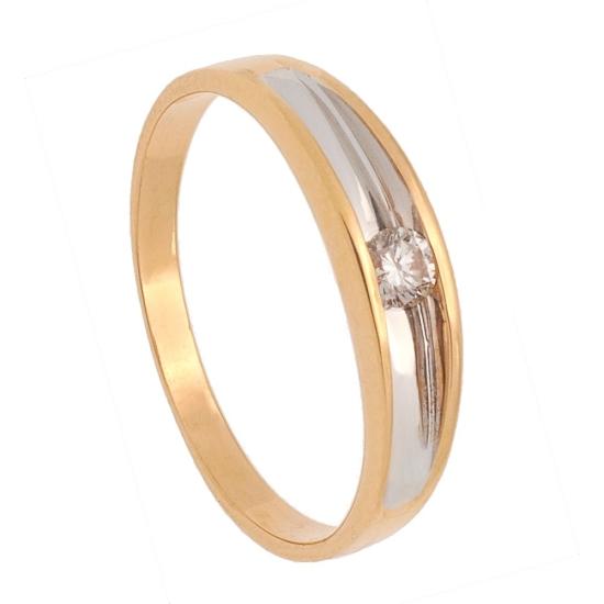 Solitario de oro y diamante - 0002 - 1