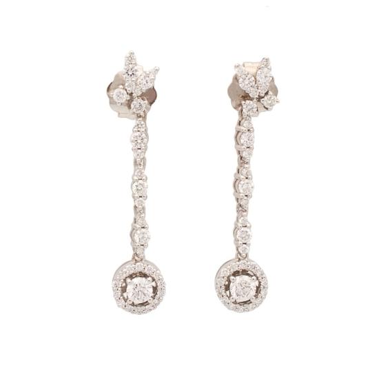 Pendientes largos con diamantes - 1067 - 1
