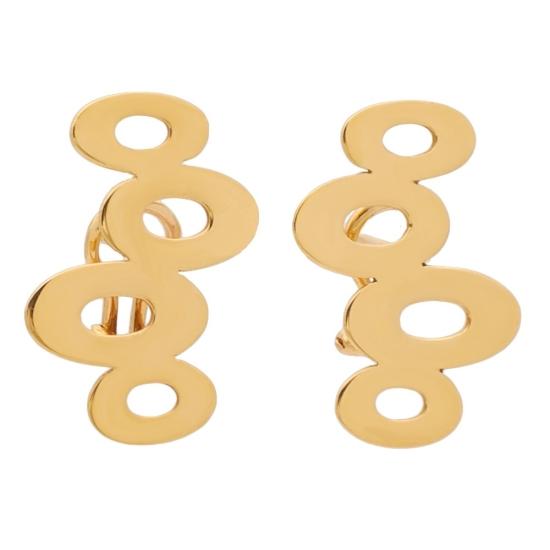Pendientes de oro rosa con formas circulares - 0290 - 1