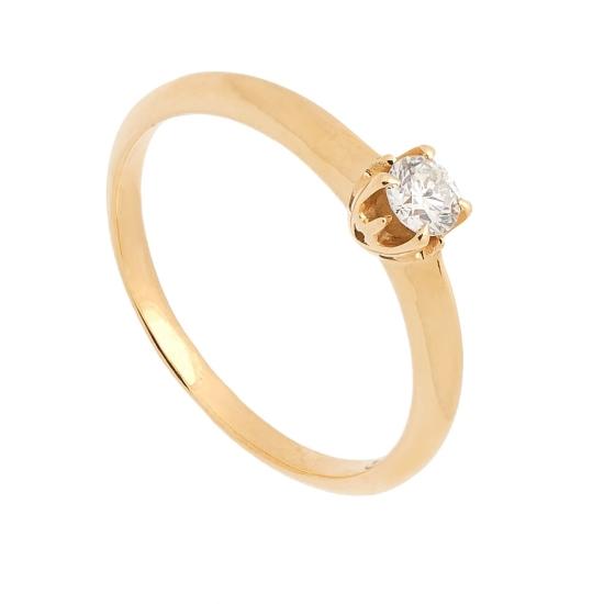 Solitario de oro amarillo y diamante - 1162 - 1