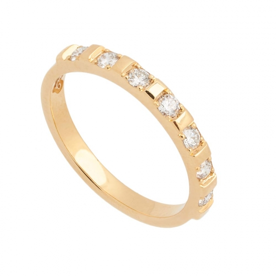 Sortija de oro amarillo con diamantes - 1206 - 1