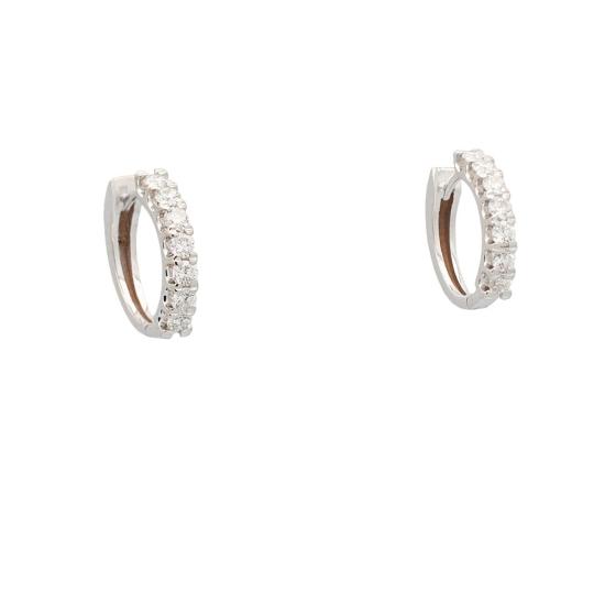 Pendientes en aro con diamantes - 1242 - 1