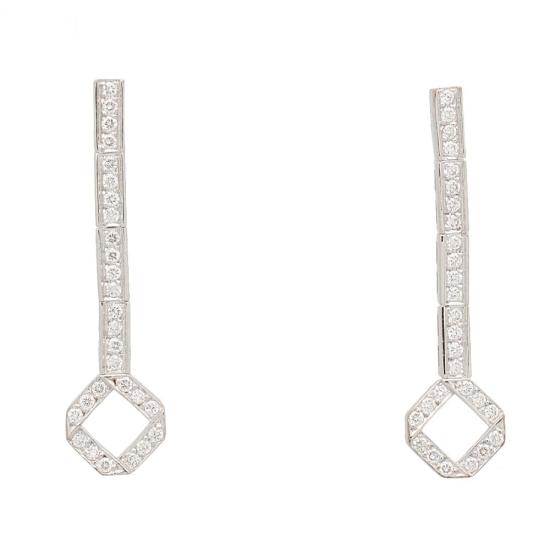 Pendientes largos con diamantes - 1238 - 1