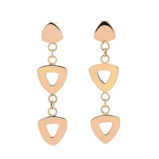 Pendientes de oro con formas geométricas - 1