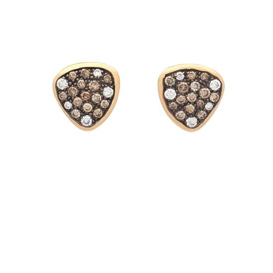 Pendientes con diamantes blancos y marrones - 1